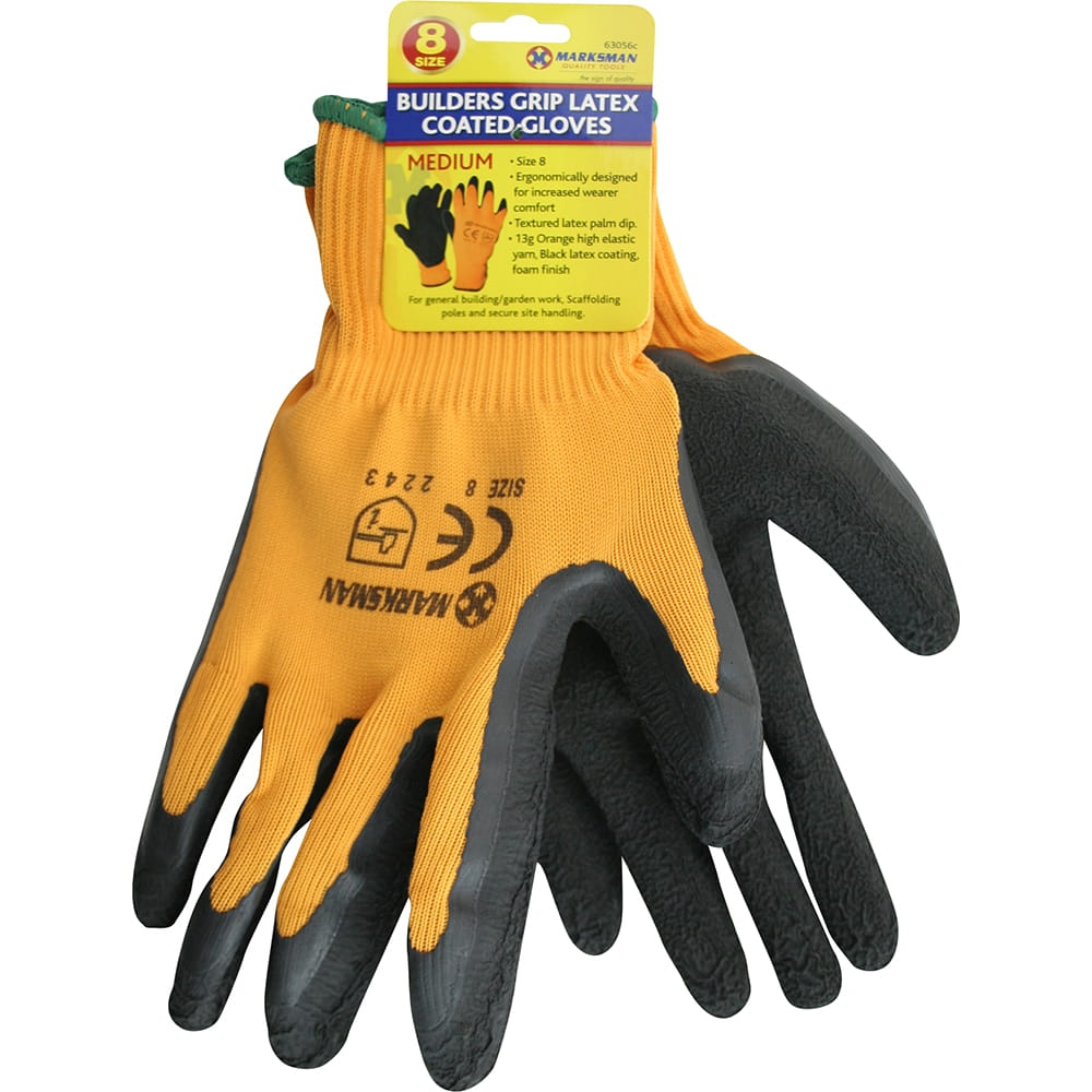 Work Gloves Home & Garden Scan Hi-vis Orange Foam Latex Coated Gloves Size 11 Extra Extra Large Removing Obstruction