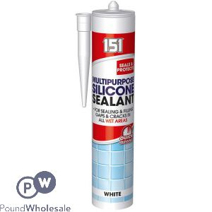 151 MULTIPURPOSE SILICONE SEALANT WHITE 310ML