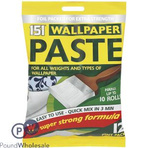 151 WALLPAPER PASTE 10 ROLL 12 PINT PACK