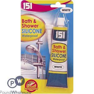 151 BATH & SHOWER WHITE SILICONE 70G