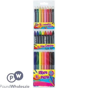 ARTBOX 24PC COLOURING SET
