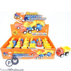 POWERFUL FRICTION CONSTRUCTION TRUCK 4/ASSORTED CDU (12PCS)