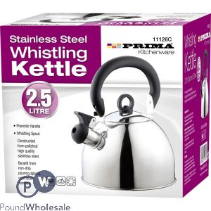 PRIMA STAINLESS STEEL WHISTLING KETTLE 2.5L
