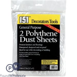 151 GENERAL PURPOSE POLYTHENE DUST SHEETS