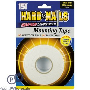 151 HARD AS NAILS HEAVY DUTY DOUBLE SIDED MOUNTING TAPE 24MM X 5M