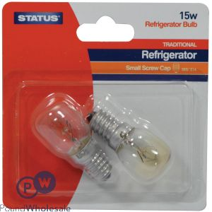 STATUS FRIDGE FREEZER BULB SES/E14 15W 2 PACK