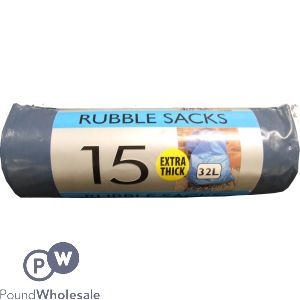 TIDYZ 15 INDUSTRIAL EXTRA THICK RUBBLE SACK 32L