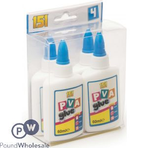 4PK PVA GLUE BOTTLES 60ML