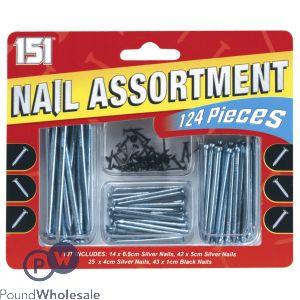 151 NAIL ASSORTMENT 124 PIECES