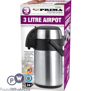 PRIMA 3 LITRE STAINLESS STEEL AIRPOT