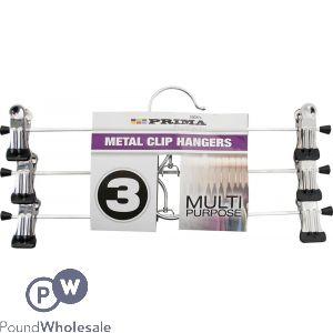 PRIMA MULTI-PURPOSE METAL CLIP HANGERS 3 PACK