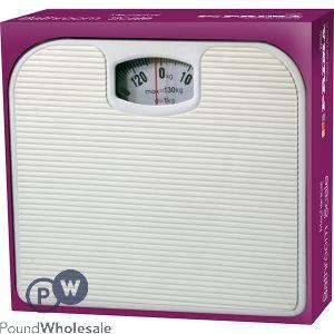 PRIMA WHITE BATHROOM SCALE 130KG