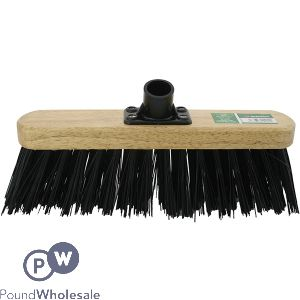 """MARKSMAN STIFF BLACK PVC BROOM HEAD 11.5"""""""