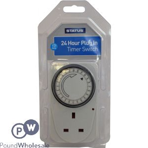 STATUS 24 HOUR 13AMP PLUG IN TIMER SWITCH