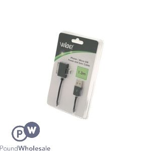 2 IN 1 USB CHARGE AND SYNC DATA CABLE BLACK - COMPATIBLE WITH ALL ANDROID AND IPHONE4/IPAD 2