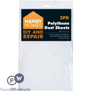 HANDY HOMES POLYTHENE DUST SHEETS 2PK