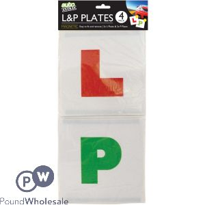 MAGNETIC L AND P PLATES 4PK