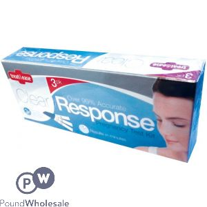 CLEAR RESPONSE PREGNANCY TESTING KIT 3 PACK