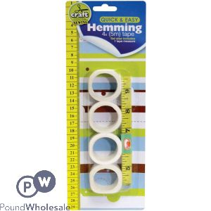 HEMMING SET WITH MEASURING TAPE 5 PACK