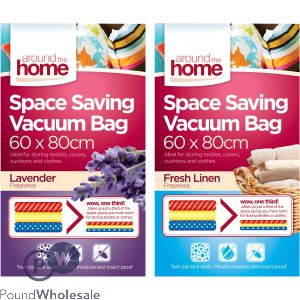 AROUND THE HOME FRAGRANCED SPACE SAVING VACUUM BAGS