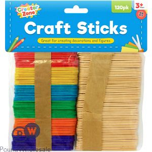 CREATOR ZONE CRAFT STICKS 120PK