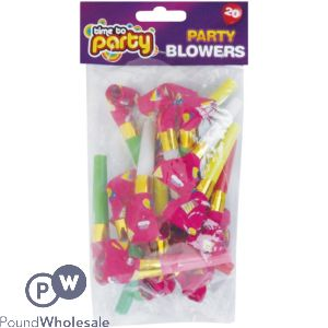 TIME TO PARTY PARTY BLOWERS 20PK