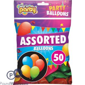 TIME TO PARTY ASSORTED PARTY BALLOONS