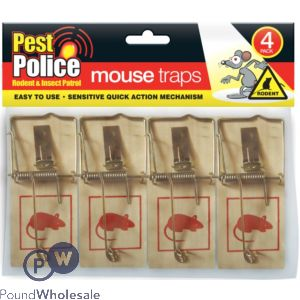 PEST POLICE MOUSE TRAPS 4-PACK