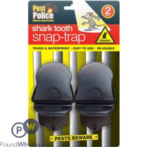 PEST POLICE SHARK TOOTH SNAP-TRAP
