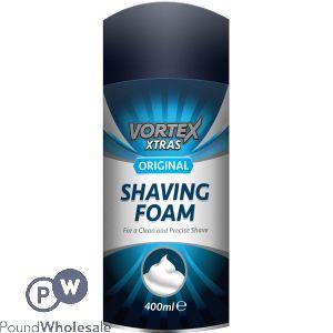 VORTEX XTRAS ORIGINAL SHAVING FOAM 400ML
