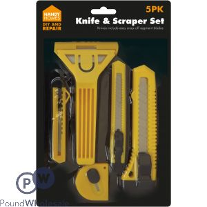 HANDY HOMES KNIFE & SCRAPER SET 5PK
