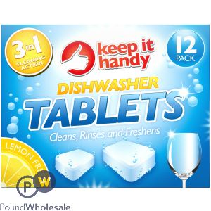 KEEP IT HANDY DISHWASHER TABLETS 12 PACK