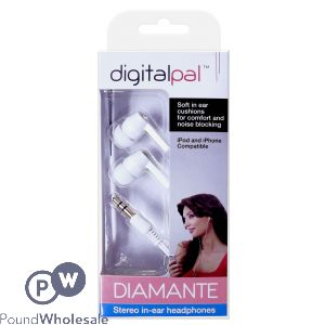 DIGITAL PAL DIAMANTE STEREO IN-EAR HEADPHONES