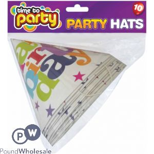 TIME TO PARTY HAPPY BIRTHDAY PARTY HATS
