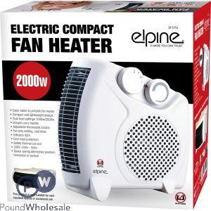 ELPINE ELECTRIC COMPACT FAN HEATER 2000W