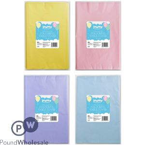 COLOURFUL TABLE COVER 3 PACK ASSORTED COLOURS