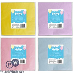COLOURFUL PAPER NAPKINS 2 PLY 40 PACKS ASSORTED COLOURS