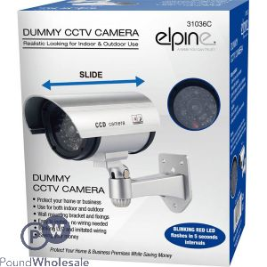 ELPINE DUMMY CCTV CAMERA SILVER