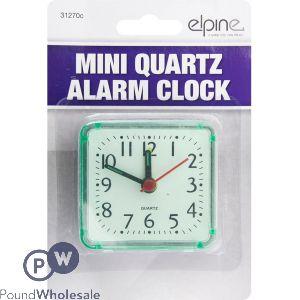 ELPINE MINI QUARTZ ALARM CLOCK