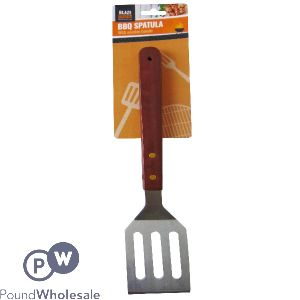 BLAZE BUDDY LARGE BBQ SPATULA WITH WOODEN HANDLE