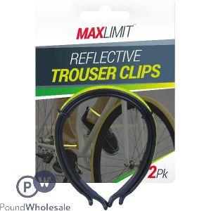 MAX LIMIT REFLECTIVE BIKE TROUSER CLIPS