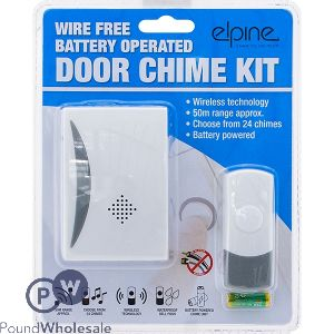 ELPINE WIRE-FREE BATTERY OPERATED DOOR CHIME KIT