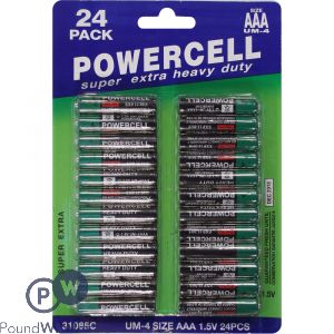 POWERCELL BATTERIES 24PK AAA
