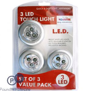 ROADSTER CAR ACCESSORIES LED TOUCH LIGHT 3 PACK