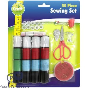 THE COMPLETE SEWING SET 50 PIECE