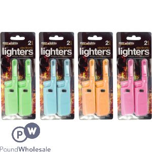 EVER LIGHTS REFILLABLE TWIN PACK ELECTRIC LIGHTERS
