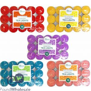 SCENTED TEA LIGHT CANDLES 15 PACK