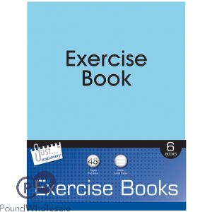 JUST STATIONERY WHITE LINED 6 EXERCISE BOOKS