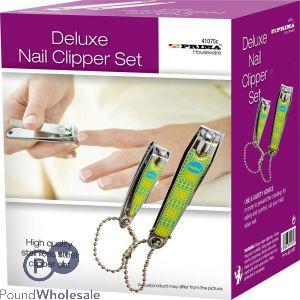 PRIMA DELUXE NAIL CLIPPER SET 2 PC