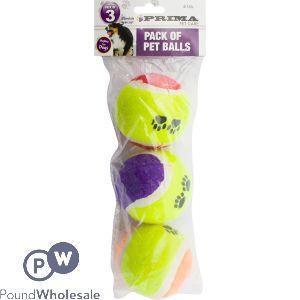 PRIMA PET TENNIS BALLS 3 PACK